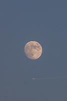 Nova York (EUA), 14/07/2019 - Clima / Lua / Eua - <br /> Lua em sua fase crescente é vista à partir de New York nos Estados Unidos na noite deste domingo, 14. (Foto: William Volcov/Brazil Photo Press)