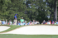 Bryson DeChambeau (USA) on the 7th green during the 1st round at the The Masters , Augusta National, Augusta, Georgia, USA. 11/04/2019.<br /> Picture Fran Caffrey / Golffile.ie<br /> <br /> All photo usage must carry mandatory copyright credit (&copy; Golffile | Fran Caffrey)