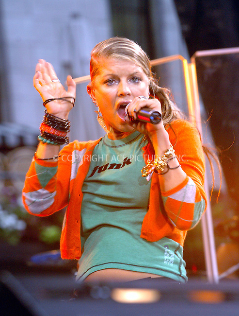 Fergie and Black Eyed Peas in a concert in New York. August 13, 2004. Please byline: AJ SOKALNER -- ACEPIXS.COM   .. *** ***..Ace Pictures, Inc:  ..Contact: Alecsey Boldeskul (646) 267-6913 ..Philip Vaughan (646) 769-0430..e-mail: info@acepixs.com