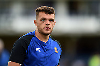 Zach Mercer of Bath Rugby looks on during the pre-match warm-up. Gallagher Premiership match, between Bath Rugby and Gloucester Rugby on September 8, 2018 at the Recreation Ground in Bath, England. Photo by: Patrick Khachfe / Onside Images