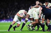 Jamie George of England in possession at the back of a maul. RBS Six Nations match between England and France on February 4, 2017 at Twickenham Stadium in London, England. Photo by: Patrick Khachfe / Onside Images