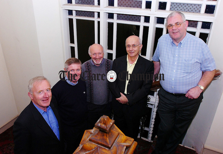 William McCormack,Pat O'Gorman,Michael Hogan, Joe McMahon and Michael Nealon at the Flannans Class of 66 reunion.Pic Arthur Ellis.
