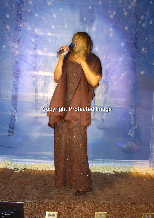 "Jennifer Holiday singing ..at Preston Bailey's Book Party for his new book ""Fantasy Weddings"" on January 26, 2005 at The Rainbow Room. ..Photo by Robin Platzer, Twin Images"
