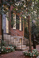 Beacon Hill; Brownstone Doorways; Boston, M