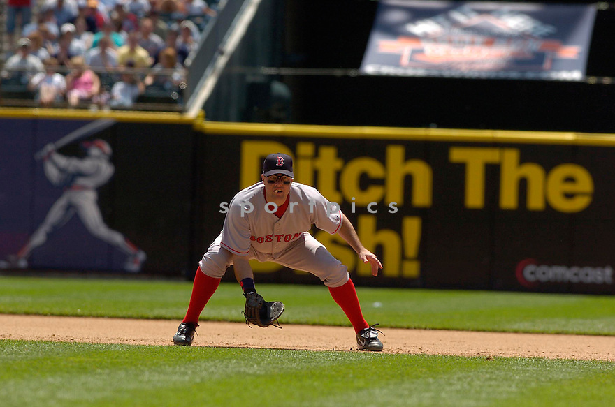 JT Snow, of the Boston Red Sox, during their game against the Detroit Tigers on June 6, 2006 in Detroit...Red Sox win8-3...David Durochik / SportPics