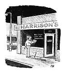 "(Burglar writes ""no clash left on the premises"" on shop window)"
