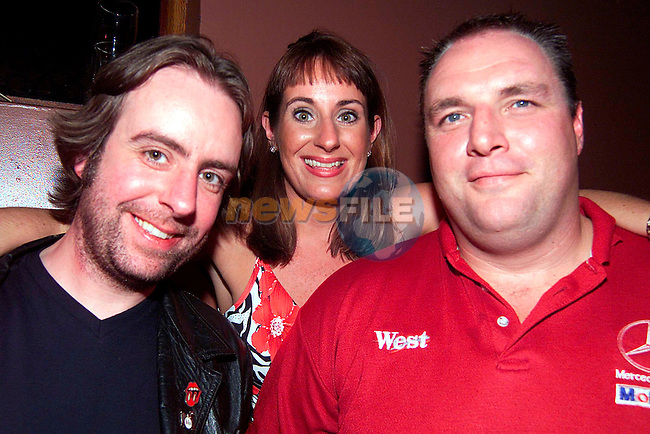Michael Gerrard with Nicola and Martin Briscoe enjoying a night in McPhails..Picture: Paul Mohan/Newsfile