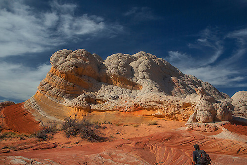 Unusual sandstone shapes produced by erosion make up the landscape at White Pocket at Vermilion Cliffs National Monument, Arizona