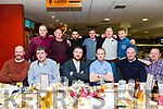 Tom Ryan, Roscrea, Co. Tipperary Stagg night at the Kingdom Greyhound Stadium on Saturday marrying Aoife Harte  Front l-r Garry McEvoy, John Quinlan, Eoin Quinlan, Tom Ryan,  Garry McEvoy, Keith Noonan, Darren McDonough, Neil Gallagher, Padraig Barry, John Ryan, Darren White,  Damien Ryan