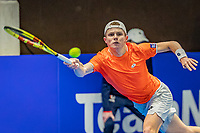 Alphen aan den Rijn, Netherlands, December 21, 2019, TV Nieuwe Sloot,  NK Tennis, Jesper de Jong (NED)<br /> Photo: www.tennisimages.com/Henk Koster