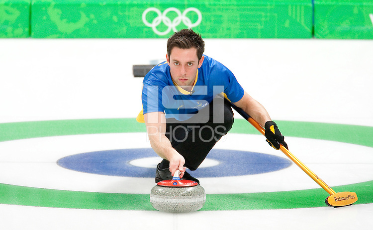 VANCOUVER, BC, CANADA--Men's Curling Semifinals, Vancouver Olympic Center.