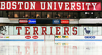 BOSTON, MA - JANUARY 04: Walter Brown Arena during a game between University of Maine and Boston University at Walter Brown Arena on January 04, 2020 in Boston, Massachusetts.