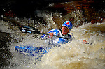 June 4, 2016 - Lyons, Colorado, U.S. -  World Champion, Claire O'Hara, enters the Black Bear Hole on the South Saint Vrain River during freestyle competition at the Lyons Outdoor Games, Lyons, Colorado.