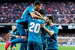 Players of Real Madrid celebrate during the La Liga 2017-18 match between Valencia CF and Real Madrid at Estadio de Mestalla  on 27 January 2018 in Valencia, Spain. Photo by Maria Jose Segovia Carmona / Power Sport Images