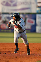 Kentrail Davis (20) of the Brevard County Manatees during a game vs. the Daytona Beach Cubs May 25 2010 at Jackie Robinson Ballpark in Daytona Beach, Florida. Daytona won the game against Brevard by the score of 5-3.  Photo By Scott Jontes/Four Seam Images