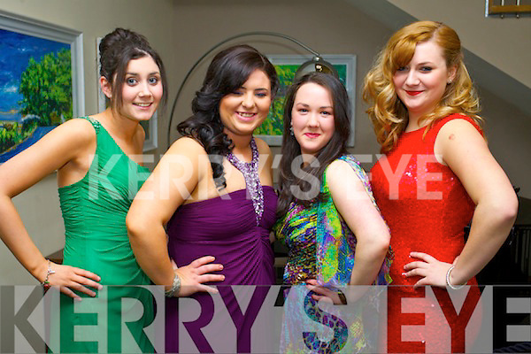 Pictured at the IT Tralee college ball, held in Ballyroe Heights Hotel, Tralee, on Wednesday March 26th were l-r: Michelle O'Connor, Arlene Brehony, Caitríona Power and Cassandra Stack.