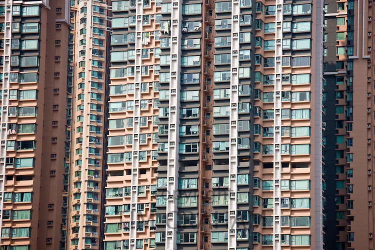 Apartment blocks in Hong Kong, China