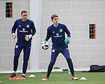 19.3.2018: Scotland u21 training:<br /> Ross Doohan (front) and Ryan Fulton goalkeepers