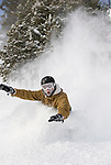 Snowboarding face shots and deep powder on a bluebird day at mt rose ski tahoe.