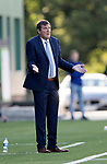 FK Trakai v St Johnstone…06.07.17… Europa League 1st Qualifying Round 2nd Leg, Vilnius, Lithuania.<br />A bemused Tommy Wright<br />Picture by Graeme Hart.<br />Copyright Perthshire Picture Agency<br />Tel: 01738 623350  Mobile: 07990 594431