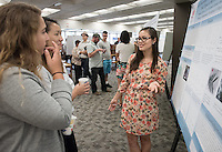 "Natalie Myers '18 presents Key Functional Traits of a Common Tropical Tree Across Soil Types in the Costa Rican Rain forest""<br /> Occidental College's Undergraduate Research Center hosts their annual Summer Research Conference on Aug. 4, 2016. Student researchers presented their work as either oral or poster presentations at the final conference. The program lasts 10 weeks and involves independent research in all departments.<br /> (Photo by Marc Campos, Occidental College Photographer)"