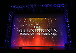 """The stage at Broadway's """"The Illusionists—Magic of the Holidays"""" on stage for a press preview at the Marquis Theatre  on November 27, 2018 in New York City."""