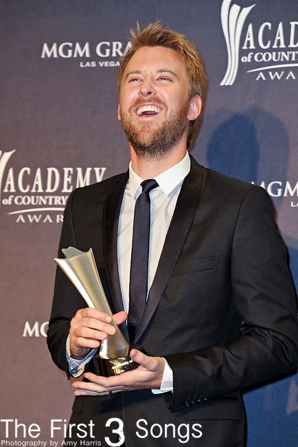 Charles Kelley of Lady Antebellum in the press room at the 46th Annual Academy of Country Music Awards in Las Vegas, Nevada on April 3, 2011.  Lady Antebellum won the award for Top Vocal Group.
