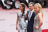 London, UK. 11 July 2016. L-R: Alicia Vikander, Matt Damon and Julia Stiles. Red carpet arrivals for the European Premiere of the Universal movie Jason Bourne (2016) in London's Leicester Square.