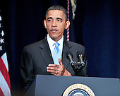 United States President Barack Obama delivers remarks to the Business Council at the Park Hyatt Hotel in Washington, D.C. on Tuesday, May 4, 2010.  In his remarks the President also spoke about the attempted bombing in Times Square..Credit: Ron Sachs / Pool via CNP