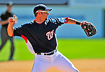 8 March 2009: Washington Nationals' third baseman Kory Casto records all three outs in the 9th inning of a Spring Training game against the New York Mets at Space Coast Stadium in Viera, Florida. The Nationals defeated the Mets 8-3 in the Grapefruit League matchup. Mandatory Photo Credit: Ed Wolfstein Photo