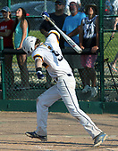 Cam Eckert, Royal Oak Shrine, reacts to a missed opportunity at the plate during Division 4 quarterfinal baseball action against Unionville-Sebewaing at Grand Blanc High School Tuesday, June 13, 2017. Shrine lost to the Patriots 4-3. Photos: Larry McKee, L McKee Photography. PLEASE NOTE: ALL PHOTOS ARE CUSTOM CROPPED. BEFORE PURCHASING AN IMAGE, PLEASE CHOOSE PROPER PRINT FORMAT TO BEST FIT IMAGE DIMENSIONS. L McKee Photography, Clarkston, Michigan. L McKee Photography, Specializing in Action Sports, Senior Portrait and Multi-Media Photography. Other L McKee Photography services include business profile, commercial, event, editorial, newspaper and magazine photography. Oakland Press Photographer. North Oakland Sports Chief Photographer. L McKee Photography, serving Oakland County, Genesee County, Livingston County and Wayne County, Michigan. L McKee Photography, specializing in high school varsity action sports and senior portrait photography.