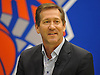 Jeff Hornacek, Head Coach of the New York Knicks, fields questions during a team news conference at Madsion Square Garden Training Center in Greenburgh, NY on Friday, July 8, 2016.