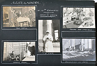 BNPS.co.uk (01202 558833)<br /> Pic: C&T/BNPS<br /> <br /> This page shows the troops recovering in hospital in Alexandria.<br /> <br /> Never before seen photos of the disastrous Gallipoli campaign have come to light over a century later.<br /> <br /> The fascinating snaps were taken by Sub Lieutenant Gilbert Speight who served in the Royal Naval Air Service in World War One.<br /> <br /> They feature in his photo album which covers his eventful war, including a later stint in Egypt.<br /> <br /> There are dramatic photos of the Allies landing at X Beach, as well as sobering images of a mass funeral following the death of 17 Brits. Another harrowing image shows bodies lined up in a mass grave.<br /> <br /> The album, which also shows troops during rare moments of relaxation away from the heat of battle, has emerged for sale with C & T Auctions, of Ashford, Kent. It is expected to fetch £1,500.