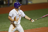 LSU Tigers shortstop Alex Bregman (8) at bat during a Southeastern Conference baseball game against the Texas A&M Aggies on April 23, 2015 at Alex Box Stadium in Baton Rouge, Louisiana. LSU defeated Texas A&M 4-3. (Andrew Woolley/Four Seam Images)