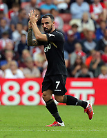 Leon Britton of Swansea City thanks supporters as he walks off the pitch during the Premier League match between Southampton and Swansea City at the St Mary's Stadium, Southampton, England, UK. Saturday 12 August 2017