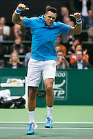 10-02-14, Netherlands,Rotterdam,Ahoy, ABNAMROWTT, Jo-Wilfried Tsonga(FRA)<br />