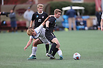 SALEM, VA - DECEMBER 3:David Waterson (17) of Calvin College fights off a defender during theDivision III Men's Soccer Championship held at Kerr Stadium on December 3, 2016 in Salem, Virginia. Tufts defeated Calvin 1-0 for the national title. (Photo by Kelsey Grant/NCAA Photos)