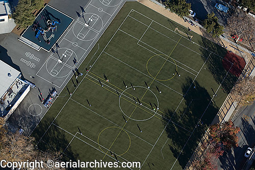 aerial photograph school playground San Jose, San Clara county, California