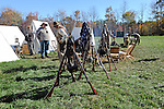 Civil War Reenactment Confederate Camp Rifles