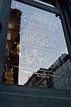 Catherine Martin and Muccia Prada Dress Gatsby display at Prada store in SOHO, NYC, May 4, 2013.