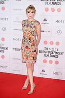 Christine Bottomley arriving for the Moet British Independent Film Awards 2014, London. 07/12/2014 Picture by: Alexandra Glen / Featureflash