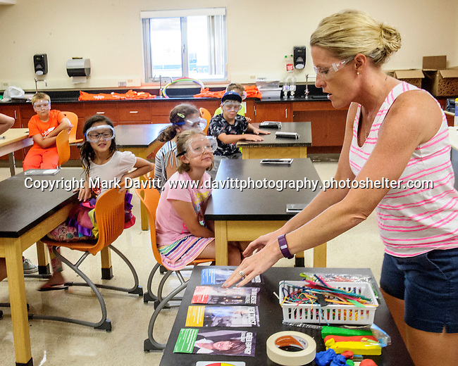 Southeast Polk hosted Camp Invention in partnership with the National Inventors Hall of Fame. It gives students an opportunity to get creative and inventive with science, technology and engineering. Amy Drake.SEP teacher and librarian, demonstrates to the students tools and spare parts they can use for their inventions.