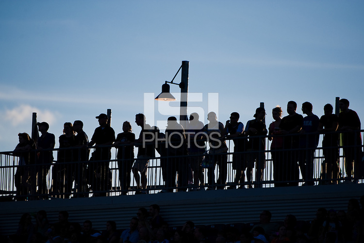 Fans watch the game during the first half. DC United defeated Philadelphia Union 1-0 during a Major League Soccer (MLS) match at PPL Park in Chester, PA, on June 16, 2012.