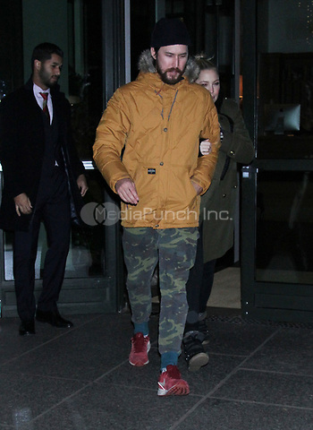 NEW YORK, NY - January 10: Danny Fujikawa and Kate Hudson leaving Crosby Hotel after press junket for being named ambassador of Weight Watchers on January 10, 2019 in New York City. Credit: RW/MediaPunch