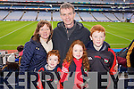 Helen, Donnacha, Colman, Aoibhín and Cathal Welton (Kenmare) pictured at Croke Park on Sunday for the Kenmare vs Ballinasloe final.
