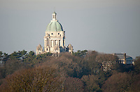 The Ashton Memorial is a folly in Williamson Park, Lancaster, England built between 1907 and 1909 by millionaire industrialist Baron Ashton in memory of his second wife, Jessy.
