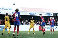 Conor Wilkinson of Dagenham scores the first goal for his team during Dagenham & Redbridge vs Sutton United, Vanarama National League Football at the Chigwell Construction Stadium on 23rd February 2019