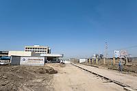 Jiangsu Oji Paper Factory is still under construction, in Nantong, Jiangsu province, China, on May 25, 2010. Photo by Lucas Schifres/Pictobank