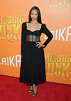 "07 April 2019 - New York, New York - Zoe Saldana at the New York Premiere of ""MISSING LINK"", held at Regal Cinemas Battery Park II.<br /> CAP/ADM/LJ<br /> ©LJ/ADM/Capital Pictures"