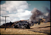 D&amp;RGW #492 K-37 and #497 K-37 at Lobato stock pens.<br /> D&amp;RGW  Lobato stock pens, NM  10/6/1962